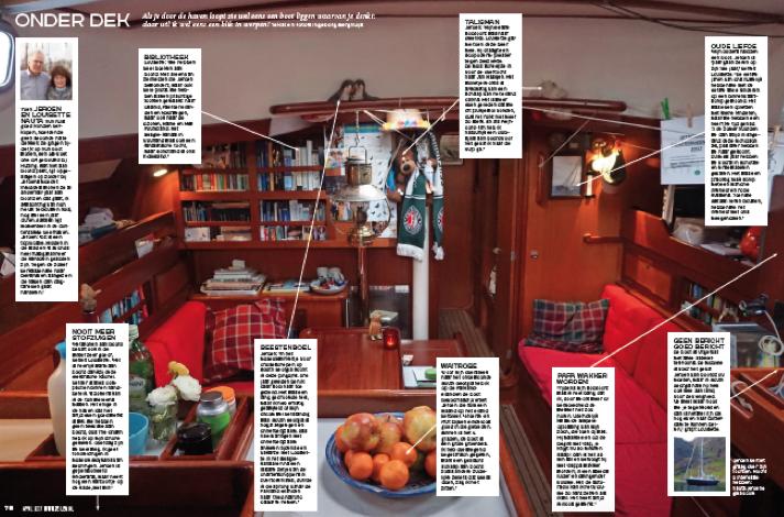 Hutting Yachts publicatie in Zeilen
