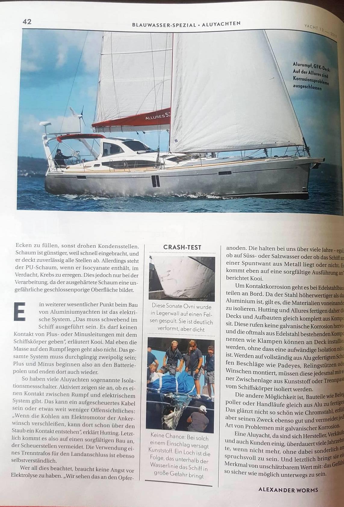 Hutting Yachts publicatie duitse Yacht