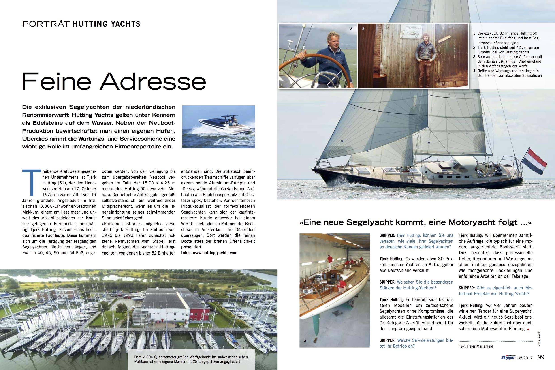 Hutting Yachts publicatie duitse Skipper