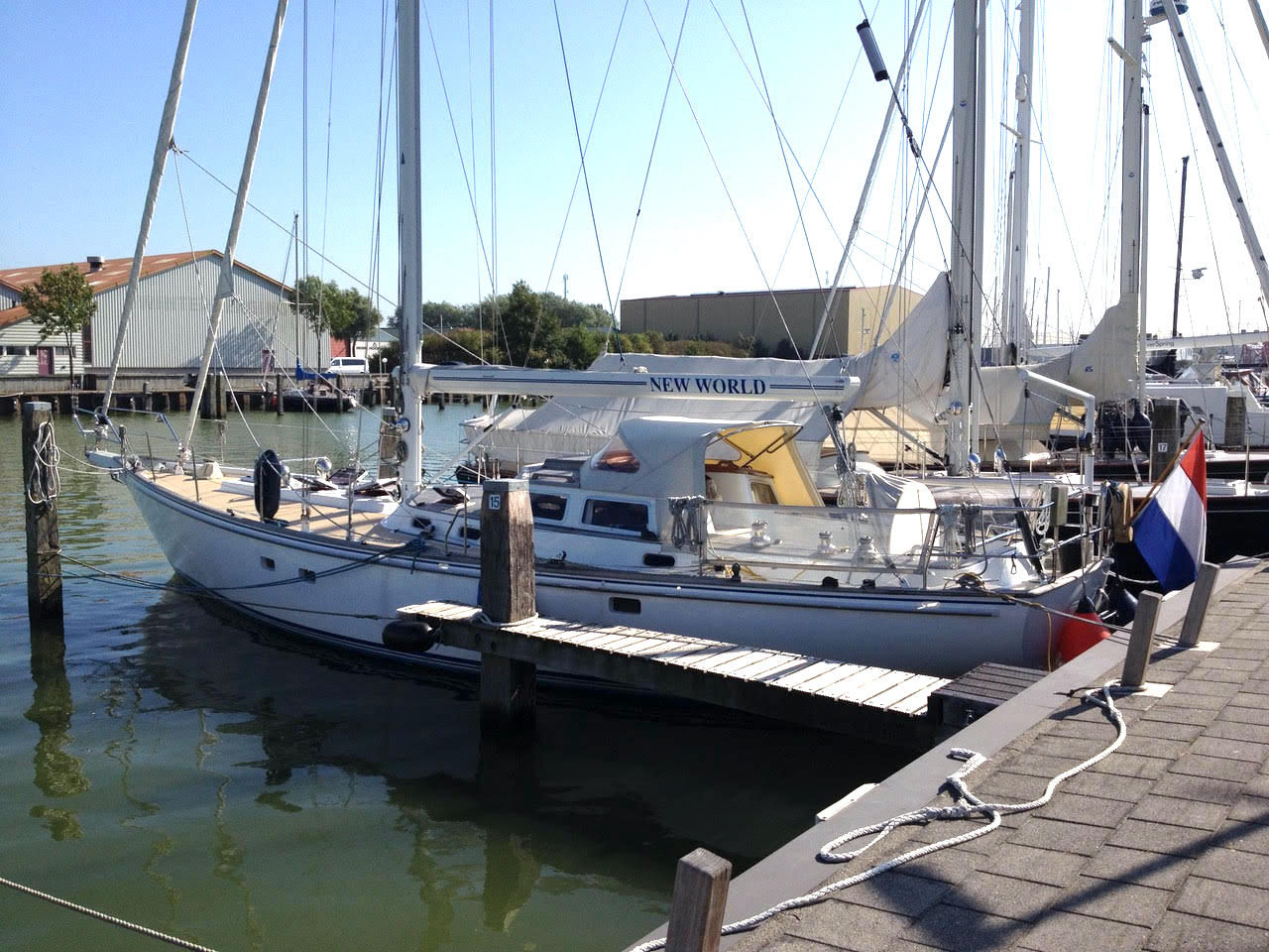 Koopmans 48 in harbour at hutting yachts
