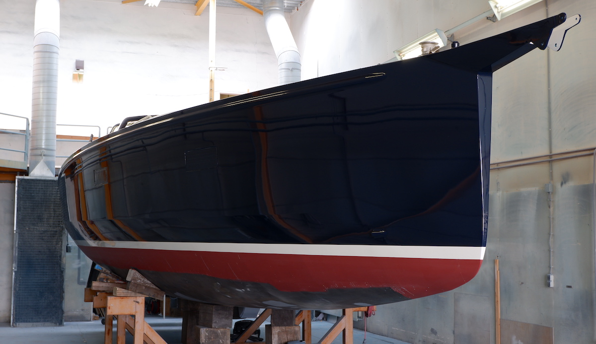 Yachtpainting result aluminium sailing yacht