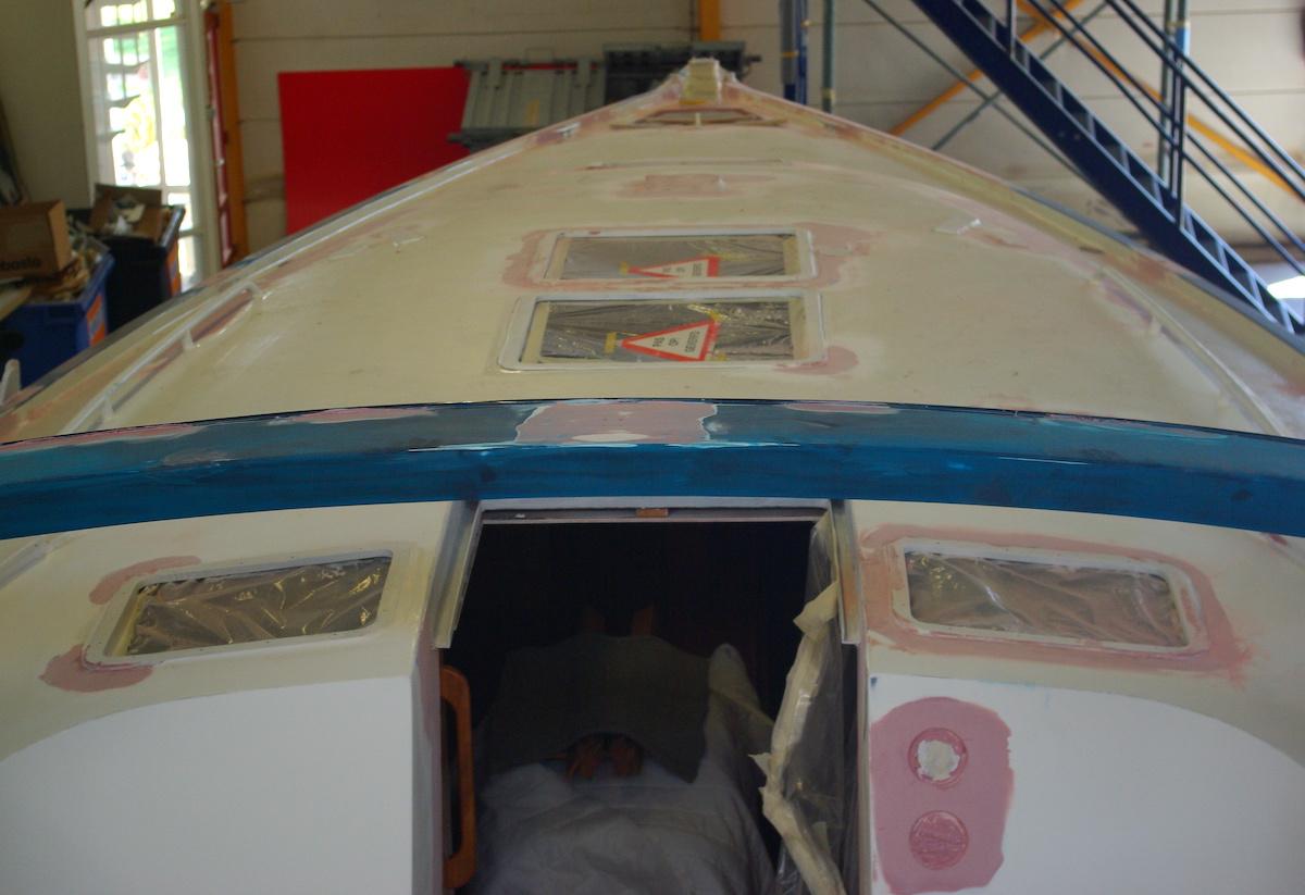 deck aluminium sailing yacht repair