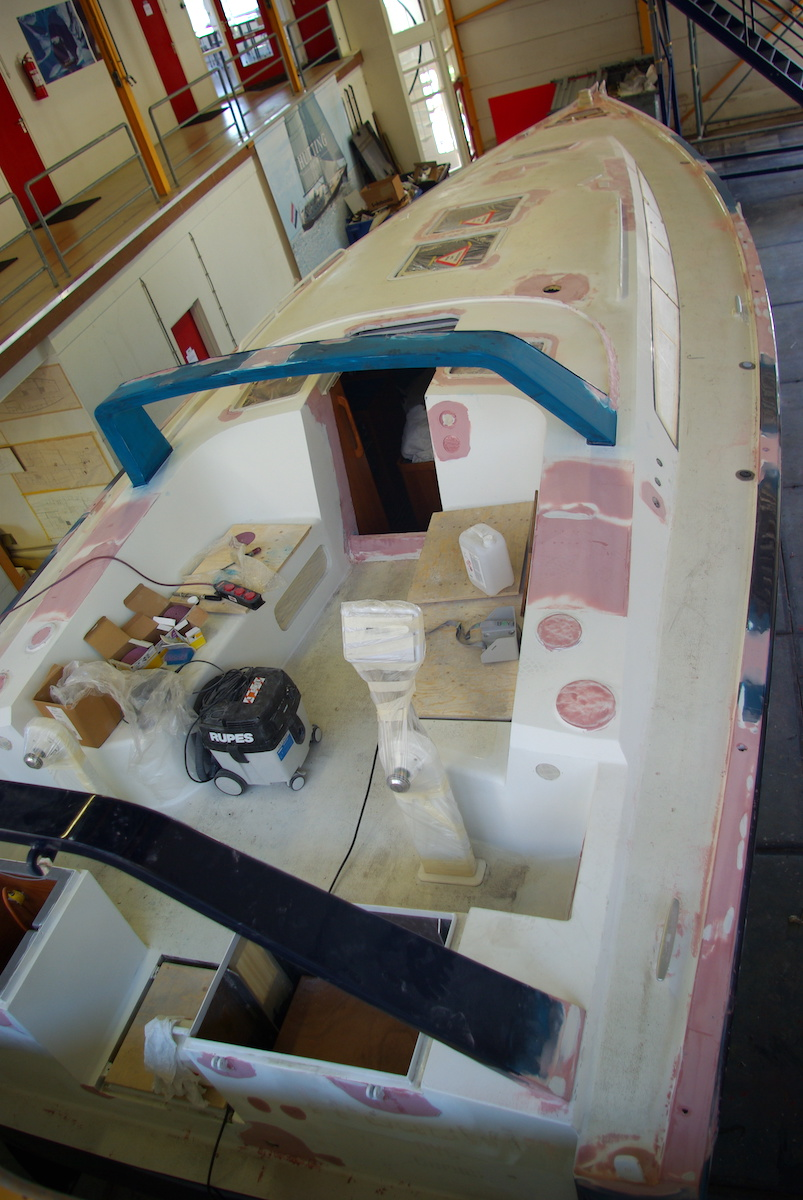 cokcpit of the Frodewin during refit