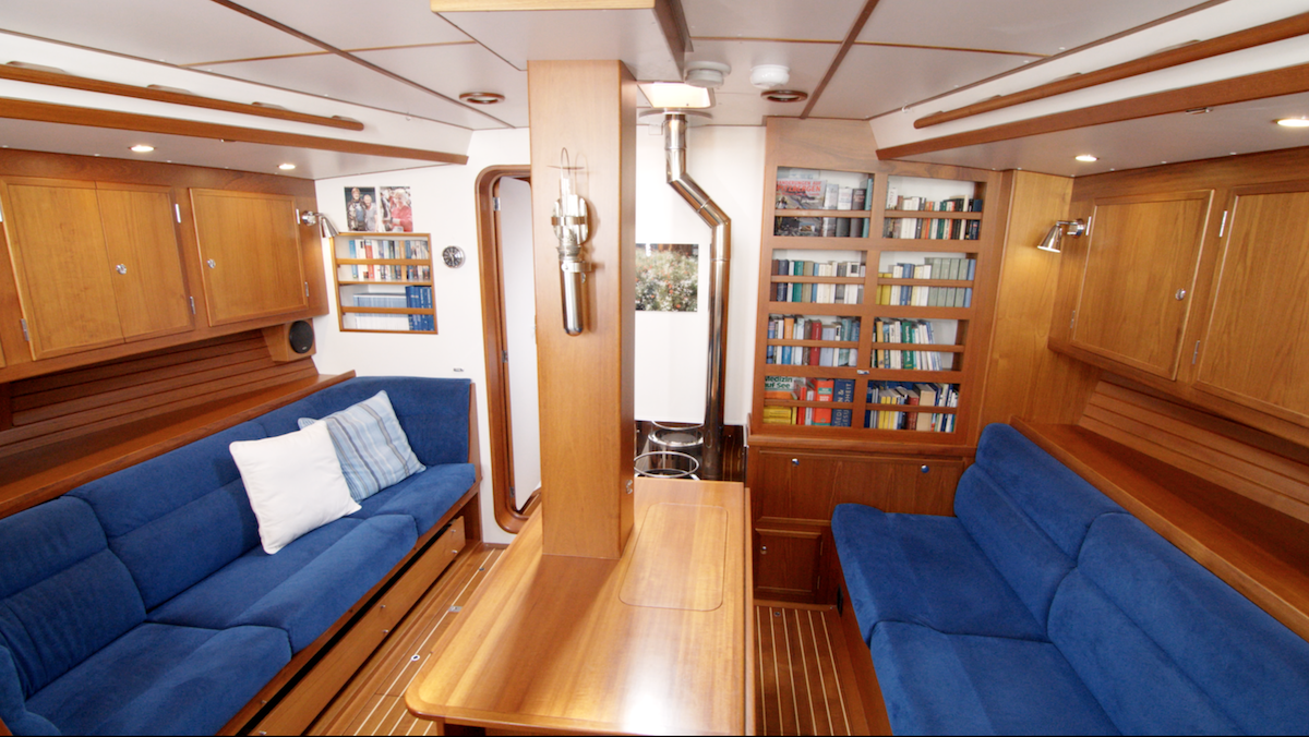 salon of the explorer yacht