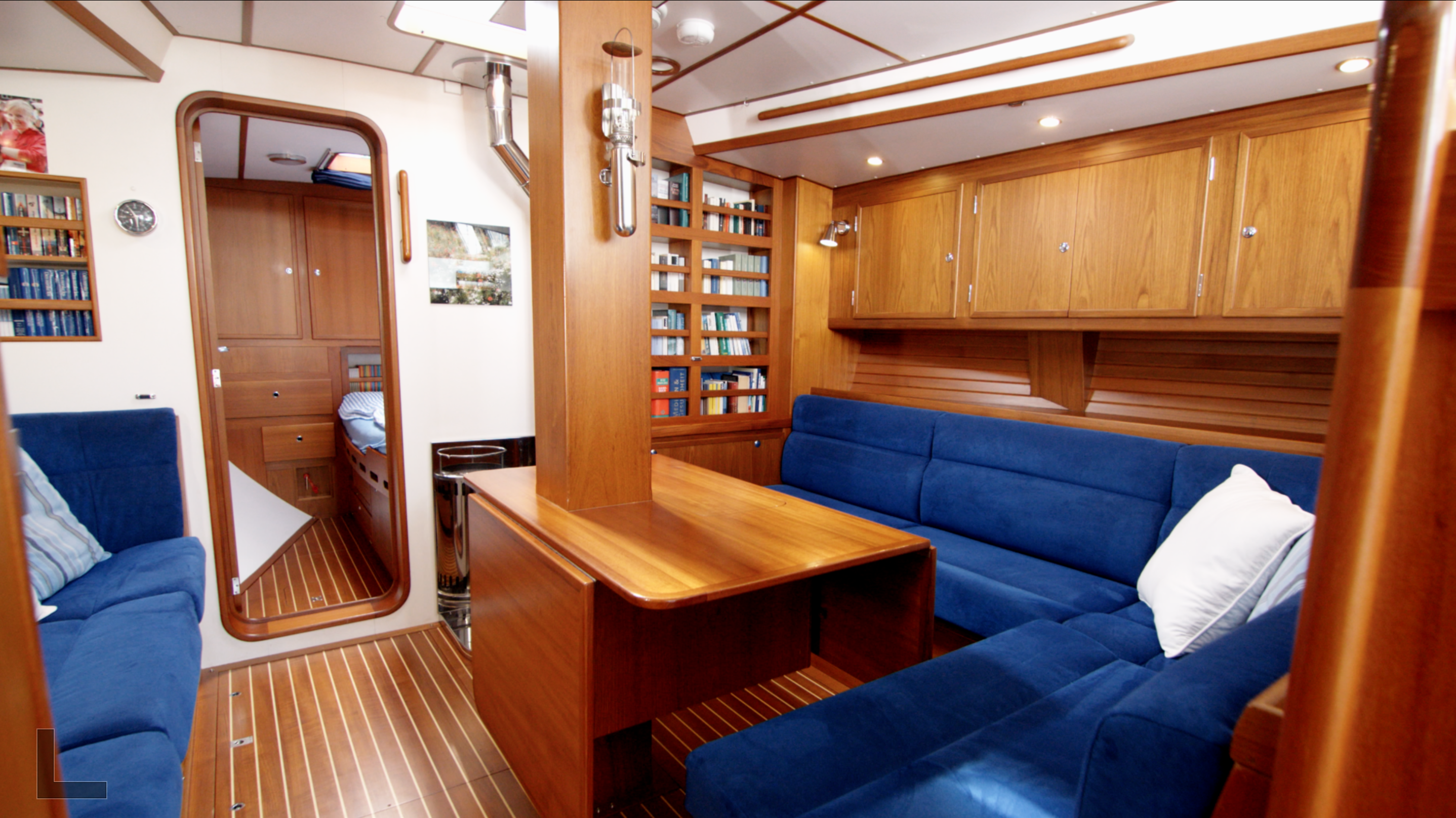 salon of the explorer sailing yacht